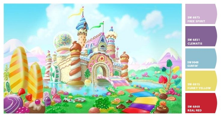 72 best candyland bedroom images on pinterest hex color for Candyland bedroom ideas
