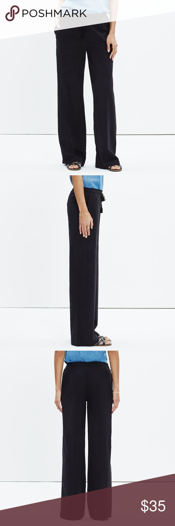 Madewell Maldives Cover-Up Pant XXS GUC. Perfect summer pant that can be worn as a coverup or as a light pant! Not see-thru! Super chic and comfortable. In great condition and fits TTS. 🚫Trades 🚫PayPal   Breezy wide-leg pants in crinkled cotton. Inspired by glamorous '70s resort style, these work as well with a bikini as they do with a half-tucked tee. Madewell Pants