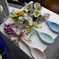 Resultado de imagen para cucharas decoradas con porcelana fria