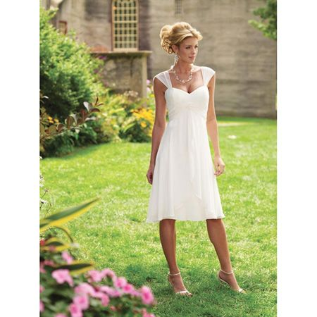 this is pretty much the silhouette right saydee simple tea length informal wedding dresses