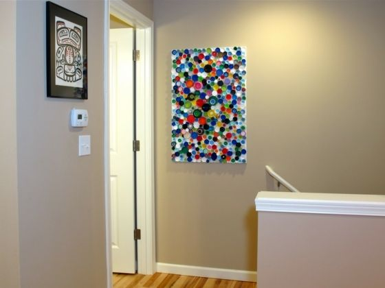 Plastik Wasserflasche Verschlüsse Wanddeko Idee