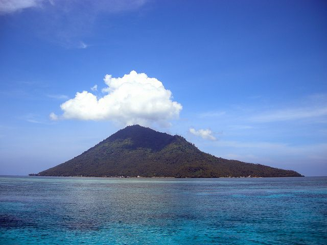 Manado Tua Island near from Bunaken