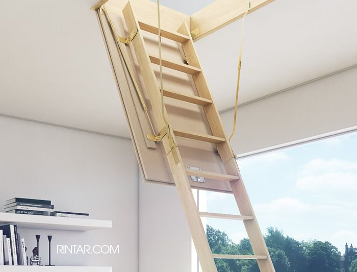 Escalera para altillo latest escalera tipo tijera para - Escalera plegable altillo ...