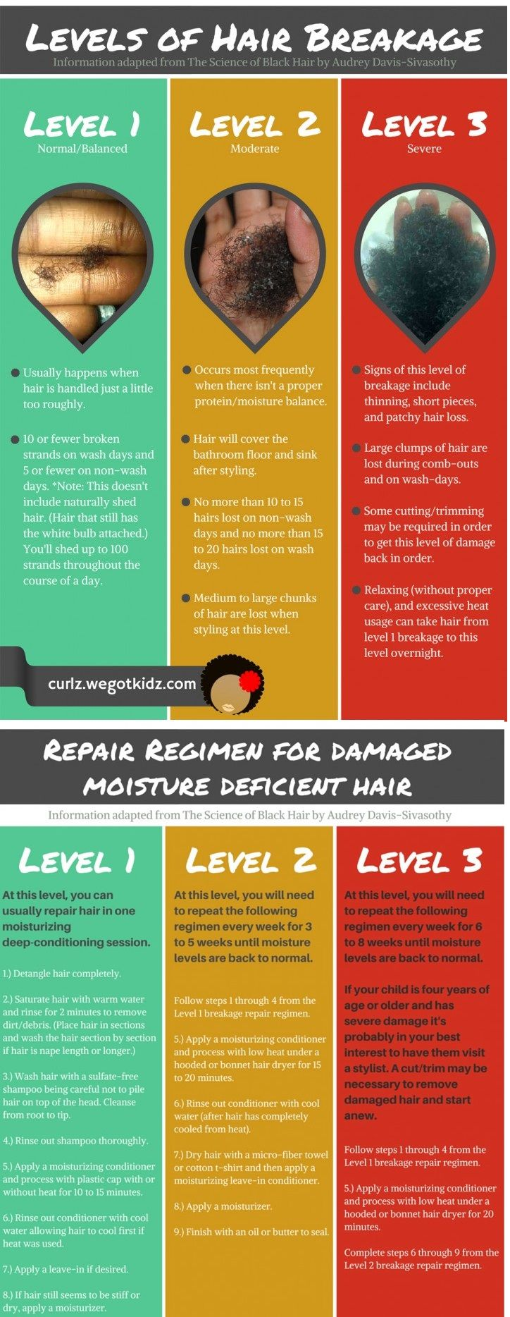 Levels of Hair Breakage and How to Fix Damage from Moisture Deficiency in Natural Hair