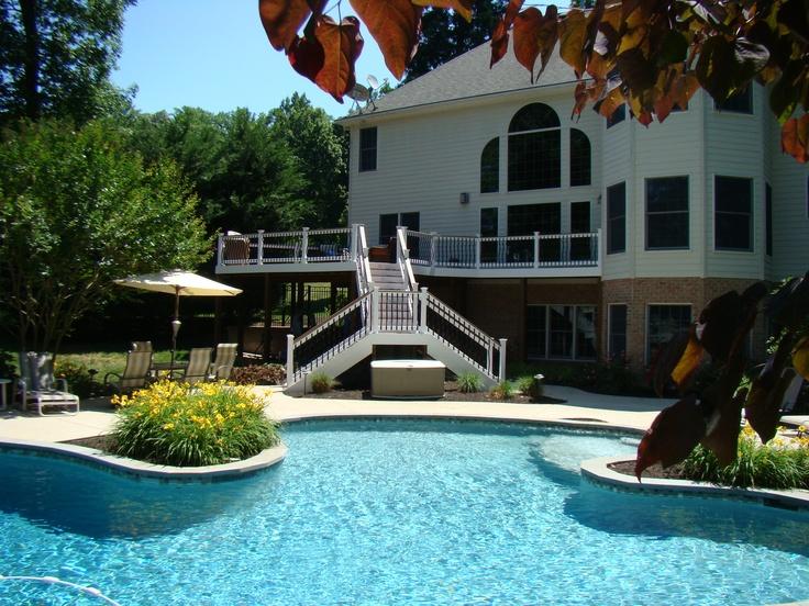 130 best decks images on pinterest for Pool design maryland