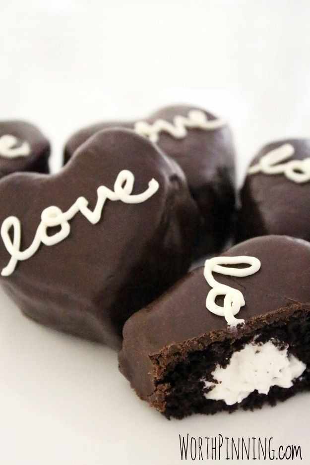 Cream Filled Chocolate Heart Cakes | 27 Treats To Give The Person You Love