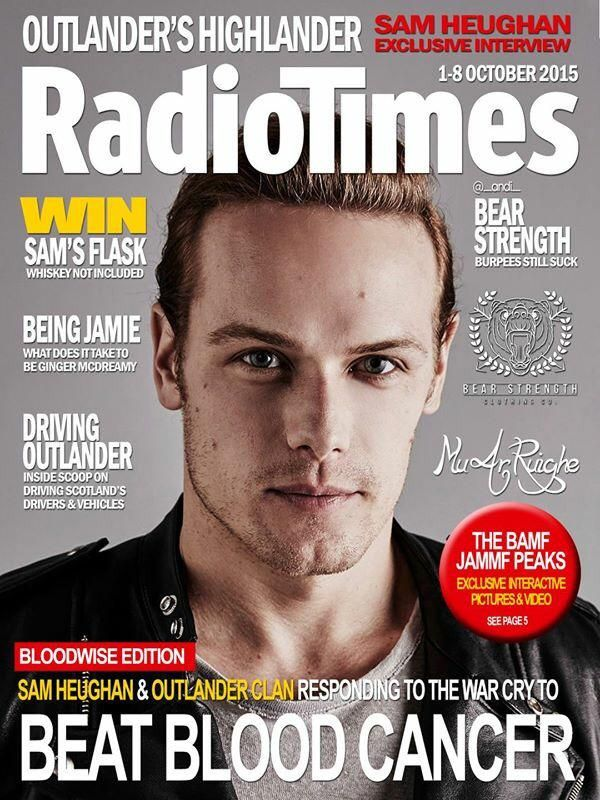 """""""@SamHeughan Rockin' this cover! Created by the über talented Andi @TheRonTerryShow @A_Badassunicorn @daviehollywood"""""""