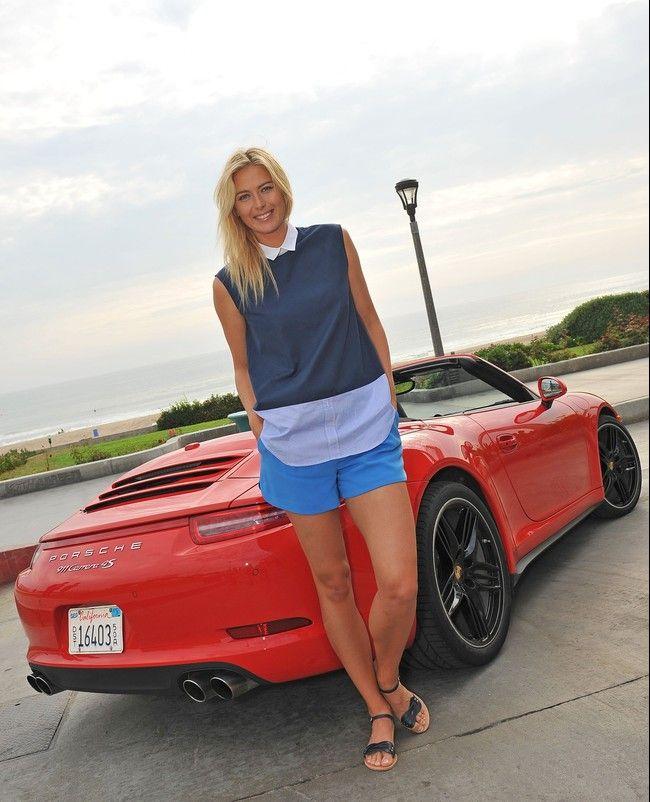 Maria Sharapova Posing For Porsche Sports Pinterest