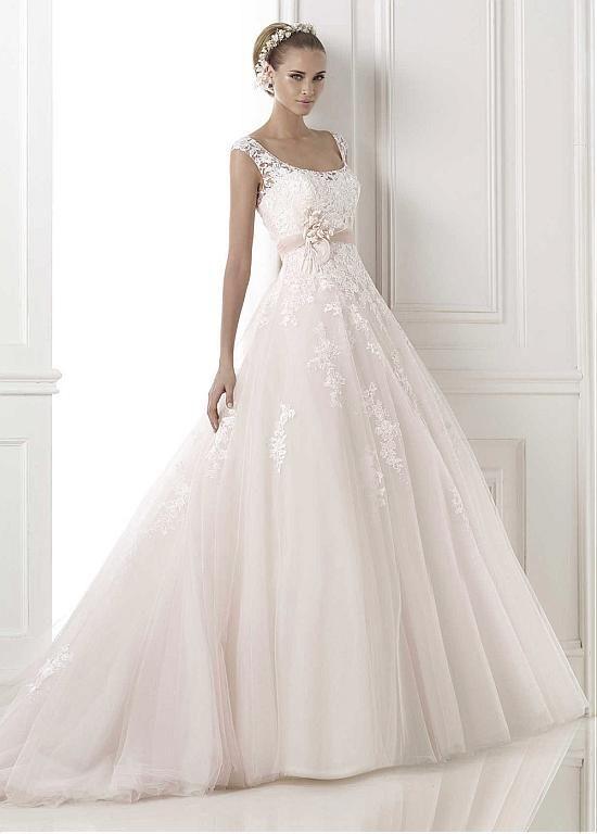 2015 wedding dresses/ Abiti da Sposa in Tulle A-Line Elegante Naturale Esclusivo