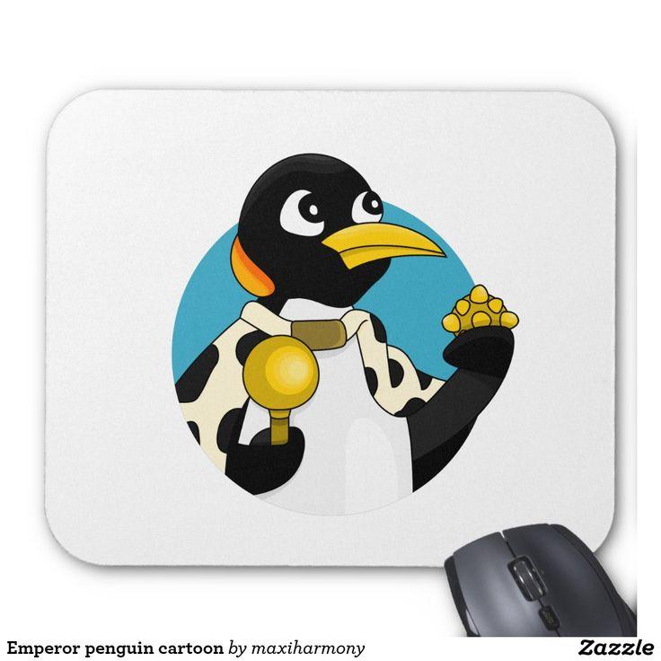 Emperor penguin cartoon mouse pad