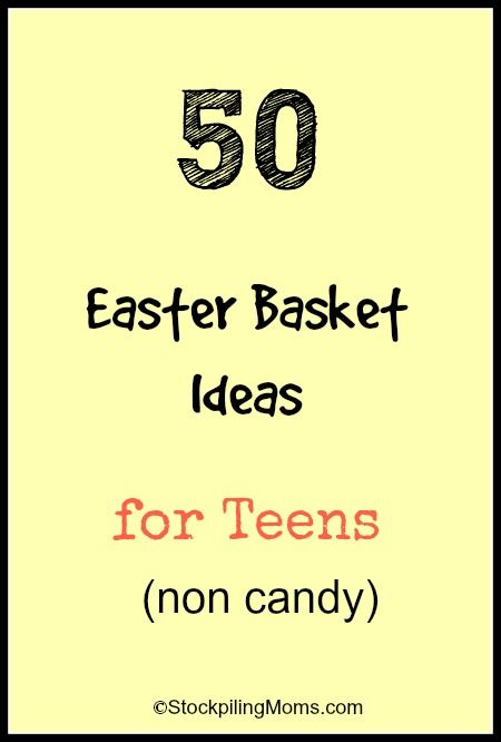 201 best easter basket stuffers images on pinterest easter 50 easter basket ideas for teens negle Image collections