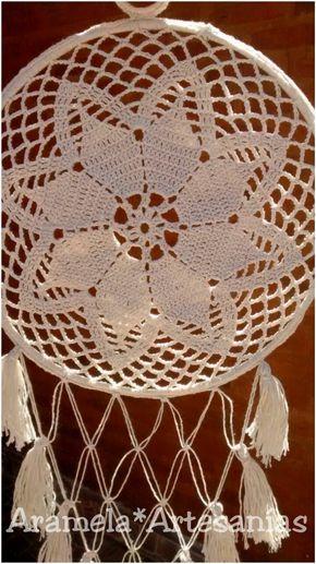 mandala atrapasueños a crochet 1