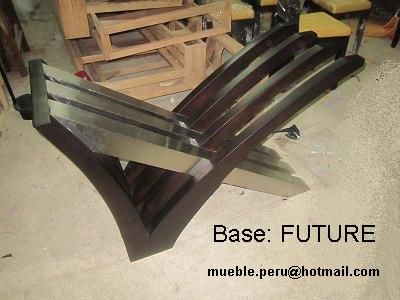base de mesa future con detalle de acero diseo fabricado a pedido