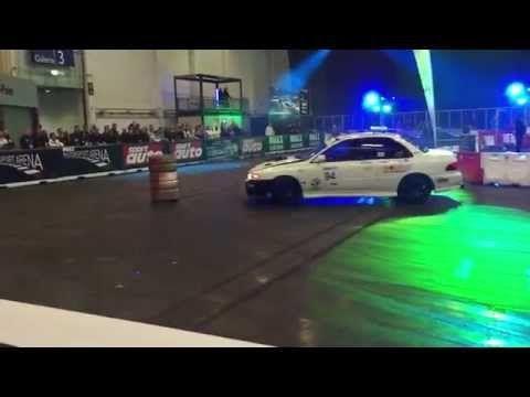 Drift Action Messe Essen - All Wheel Drive Subaru GT drifting #EssenMotorShow - YouTube