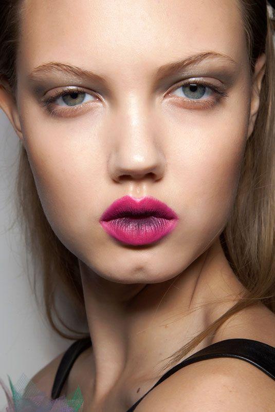 Two Tone Lips - Multi-tonal Lip Colors - Cosmopolitan: Style, Makeup, Lip Colors, Prabali Gurung, Beauty, Two Tones, Spring 2012
