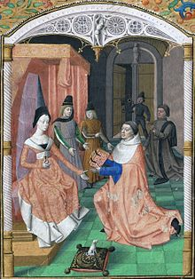 25 best tetramorphe images on pinterest middle ages angel dedication by guillaume fichet of his book rhetorica to yolande of france duchess of savoy fandeluxe Image collections