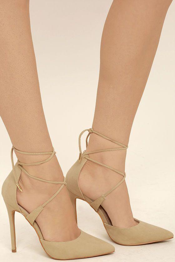 nude beige heels was