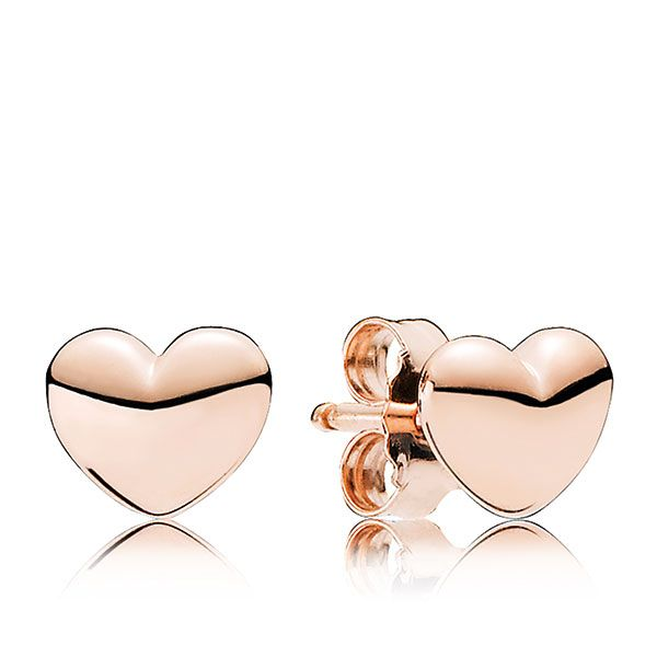 PANDORA Rose™ Petite Heart Earrings | Rose Gold Earrings Jewelry | Gift Giving