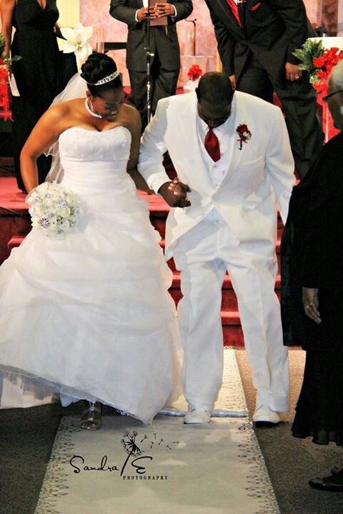 Interracial couples jumping the broom