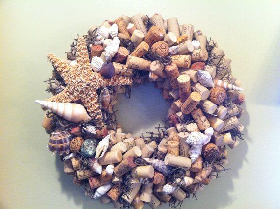 Seashell Cork Wreath