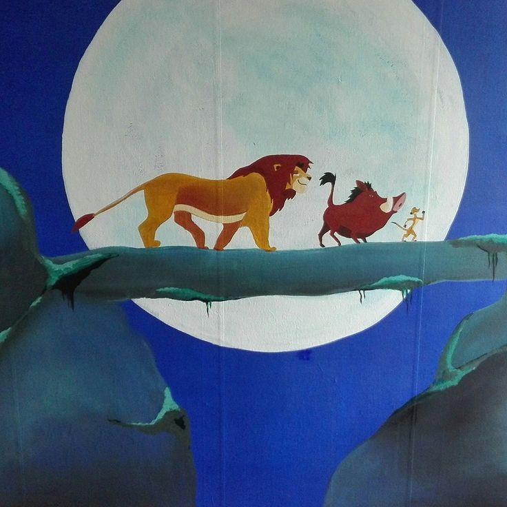 Lion King, Project K, Acryl, Mural, Muurschildering