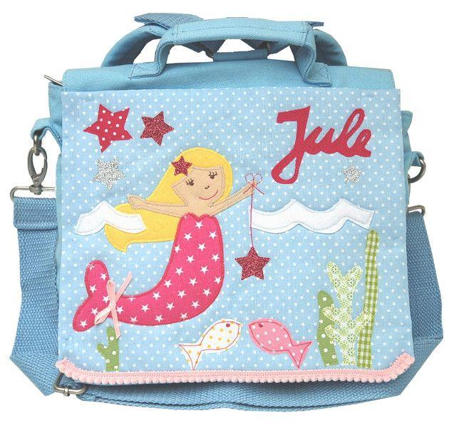 Kindergartentaschen - Kindergartenrucksack mit Namen - Meerjungfrau- - ein Designerstück von wohnzwerg bei DaWanda