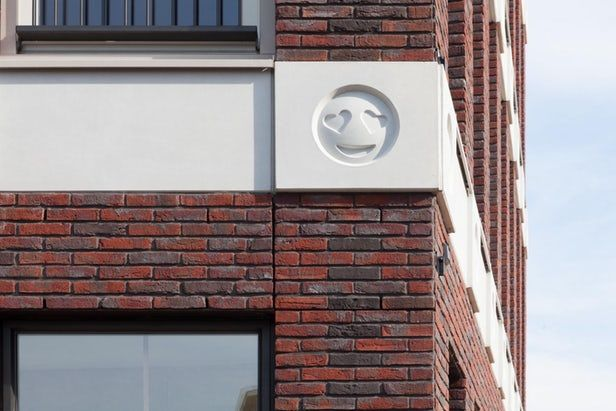 Many older buildings are ornamented with gargoyles, grotesques, famous figures, and the like – but emoji? That's a first as far as we know. Amsterdam's Attika Architekten has adorned a building with 22 of the grinning, laughing, and scowling images.