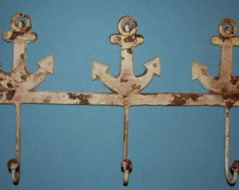Check out 1, Large Anchor, Wall Hook, Distressed Look, Free Shipping, Coat Hook, Key Hook, Tool Hook,  Jacket Hook, Kitchen Hook, Patio on wepeddlemetal