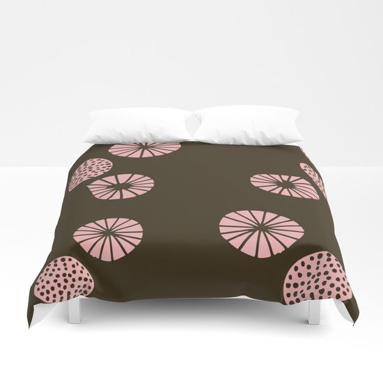 Dandelion flying brown Duvet Cover