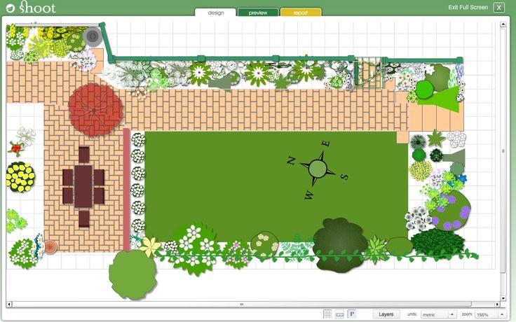 Garden, Appealing Green Rectangle Rustic Grass Garden Design - gartenplaner freeware deutsch