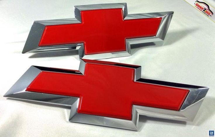 Chevy Silverado Bowtie Emblem Billet Insert Replacement Pc Set - Chevy silverado bowtie decal