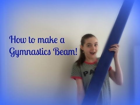 HOW TO MAKE A GYMNASTICS BEAM!! DIY, easy! - YouTube