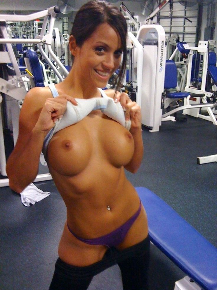 School girls exercising in nude