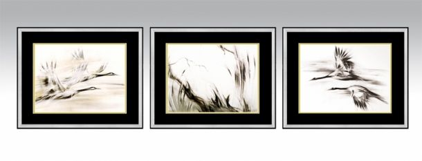 Shanghai Series in a silver frame and black double passe-partout (Option 2).