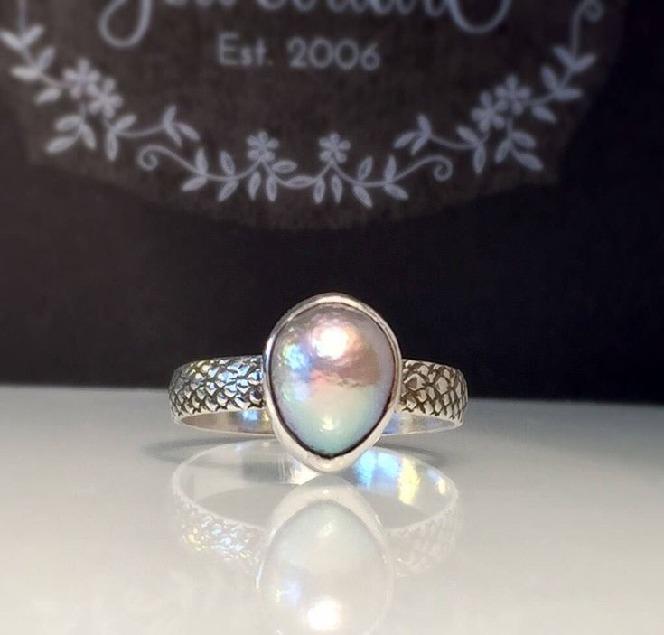Excited to share the latest addition to my #etsy shop: Pearl Ring/Silver Pearl Ring/Grey Pearl Ring/Unique Pearl Ring/Solitare Pearl Ring/Modern Pearl Ring/Artisan Pearl Ring/Free US Ship.