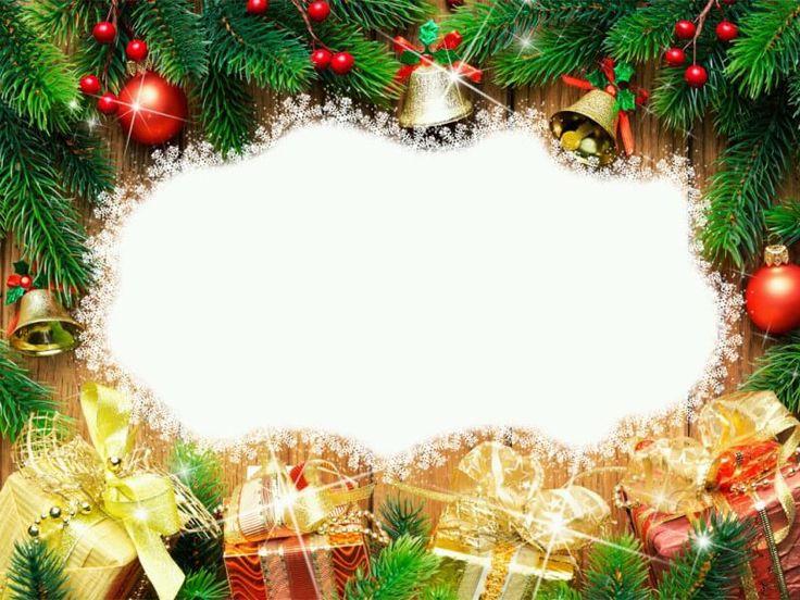 Mejores 16 im genes de marcos de navidad en pinterest - Decorar postales de navidad ...