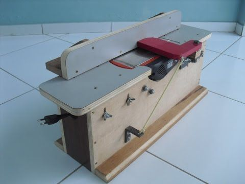 Bancada para Plaina Invertida (Bench Top Jointer) - YouTube
