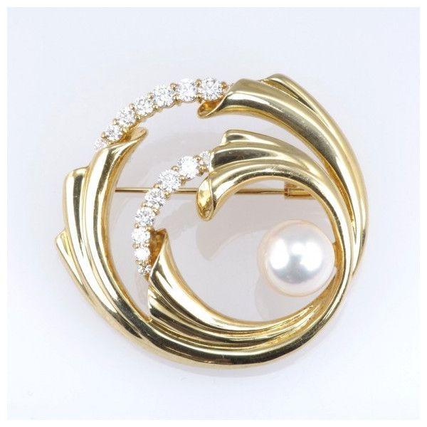 【GINZA PARIS】K18 珍珠(有机宝石) 胸针  /133,800日元