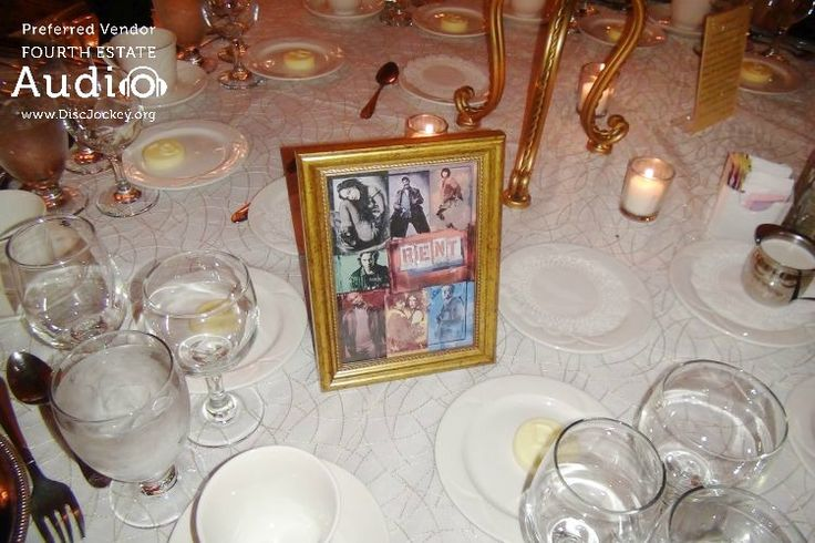 """Rich and Kate named their tables for popular Broadway shows, like """"Rent.""""  #RealChicagoWedding  http://www.discjockey.org"""