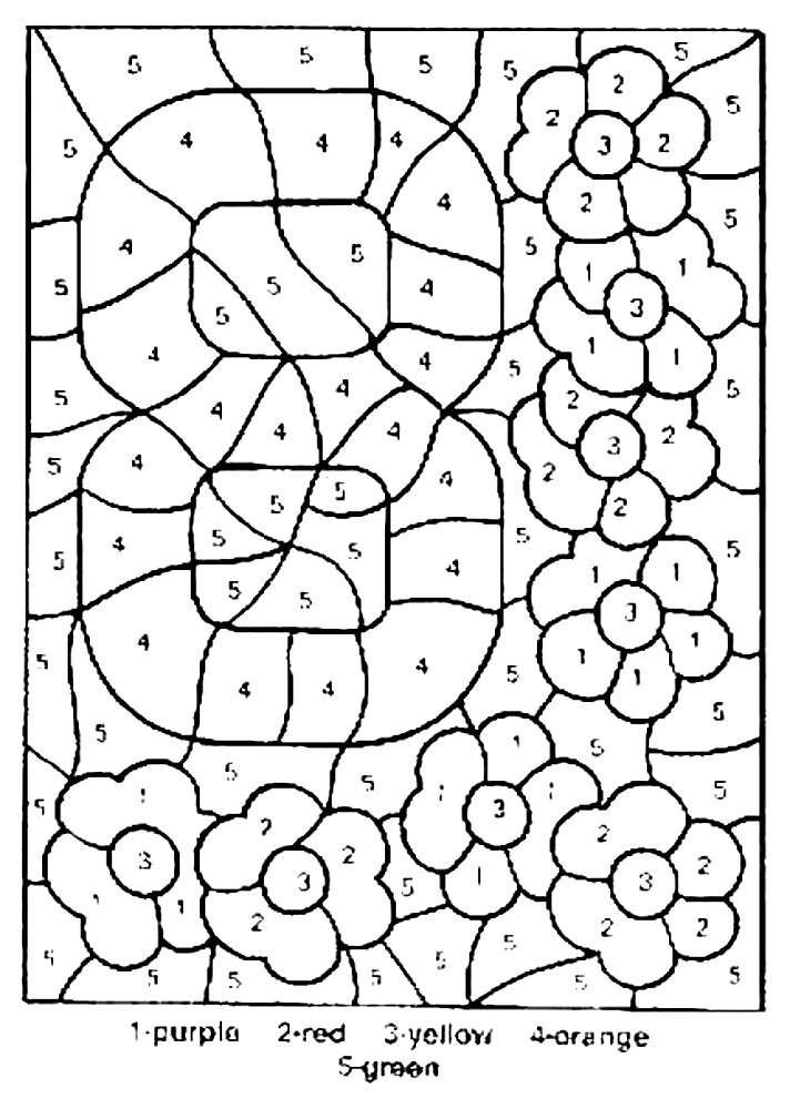 Printable worksheets for kids coloring the areas shown 16