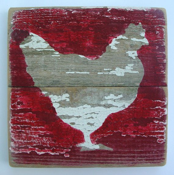 Shabby Chic Wall Art Star on Reclaimed Picket by ACleverSpark