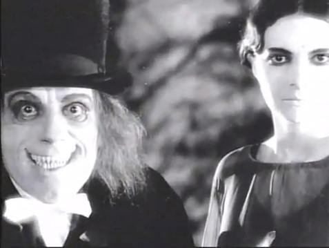 Screencap from the lost Tod Browning film 'London After Midnight,' starring Lon Chaney