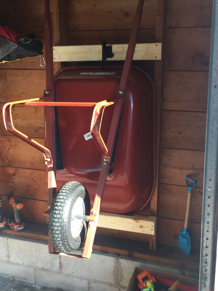 My wheelbarrow storage