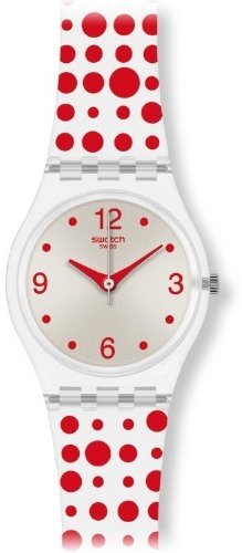 White Swatch WATCH with red dots! It's chiiiiiiiic!
