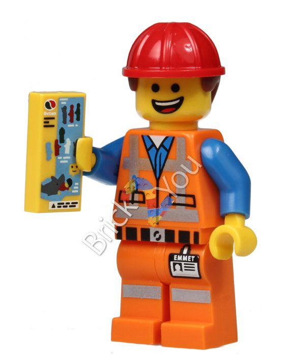 LEGO Emmet Minifigure Photo from 71004 the LEGO Movie by Brick2you