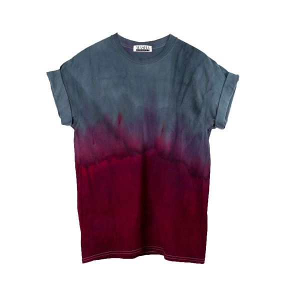 Grey Dip Dye T-Shirt NOW IN 2Xl & 3Xl Psychedelic by MashaApparel