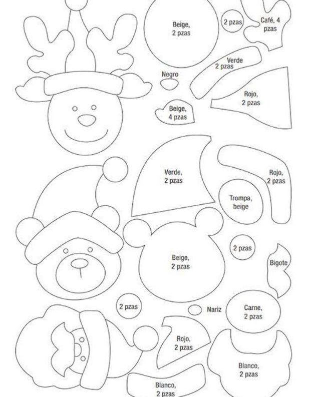 Manualidades Navideñas Paso A Paso Como Hacer Decoraciones Navideñas Con Como Hacer Decoraciones Navideñas Figuras Navideñas De Fieltro Manualidades Navideñas