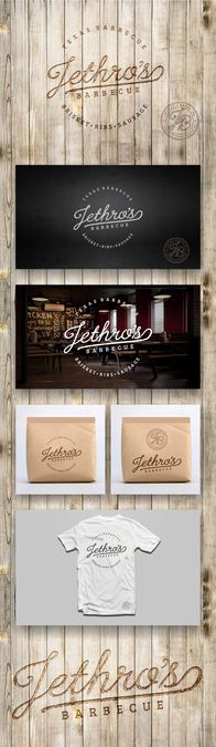 Create a welcoming and easily identifiable logo for Jethro's Barbecue by Walawalakim