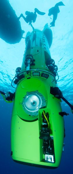 DEEPSEA CHALLENGE: James Cameron exploring the Mariana Trench in this high tech submersible. Really interested to see what samples and images they are able to bring back.