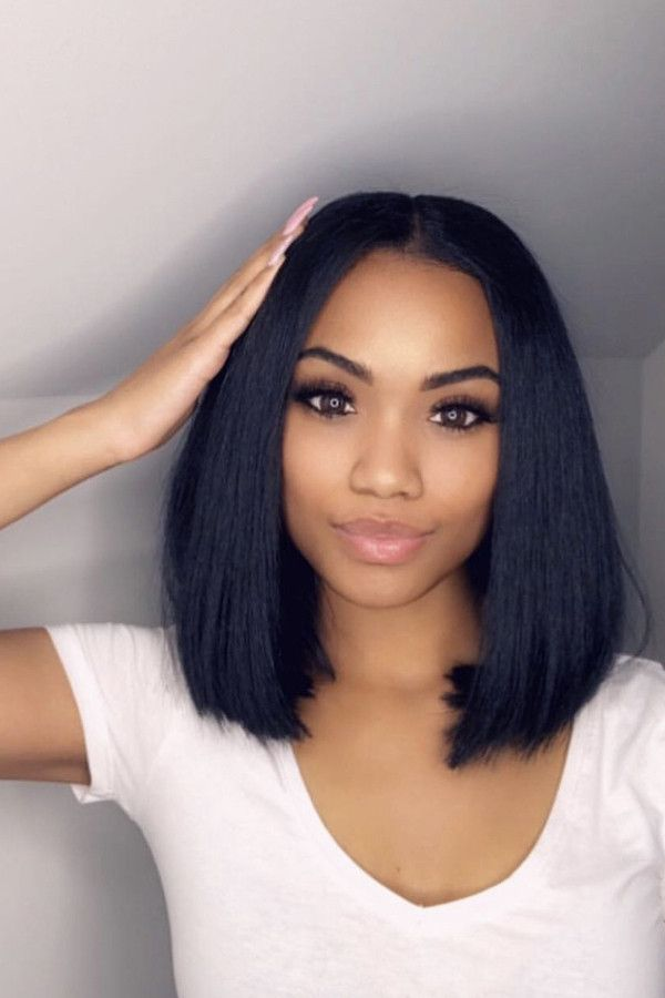 Straight Hairstyles For Black Women 100 Unprocessed Virgin Human Hair Sew In Weave Bundles With Fron Straight Weave Hairstyles Straight Human Hair Hair Styles